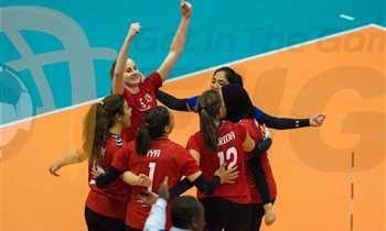 كرة طائرة – تأهل سيدات الأهلي لمواجهة الصيد في نهائي كأس مصر