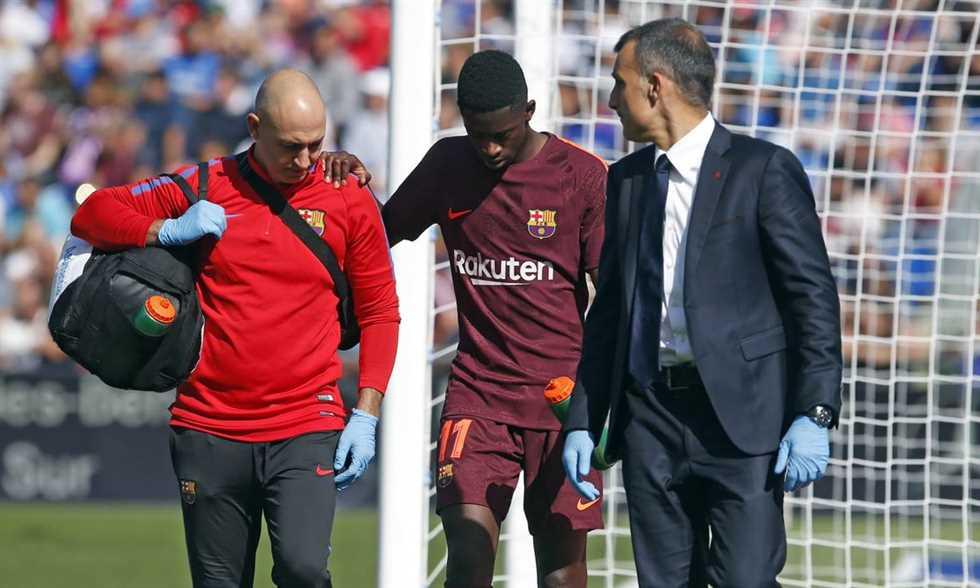 FilGoal   أخبار   هل يلحق بالمونديال؟ برشلونة يعلن تفاصيل إصابة ديمبيلي