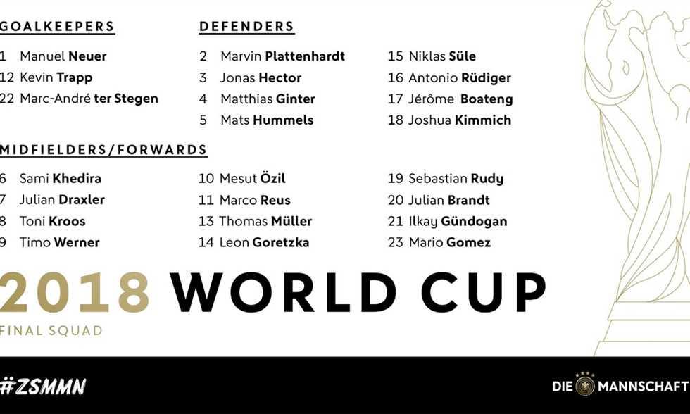 نوير يقود ألمانيا في كأس العالم.. واستبعاد مفاجئ لساني من القائمة النهائية
