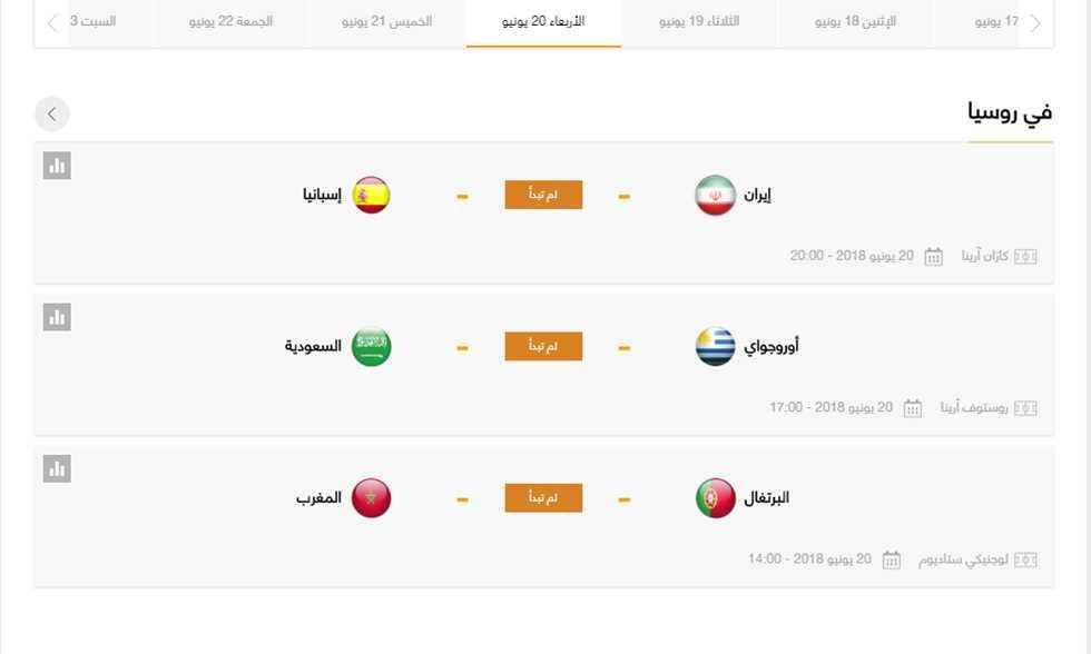 FilGoal   أخبار   مواعيد مباريات الأربعاء – المغرب ضد البرتغال.. والسعودية مع أوروجواي