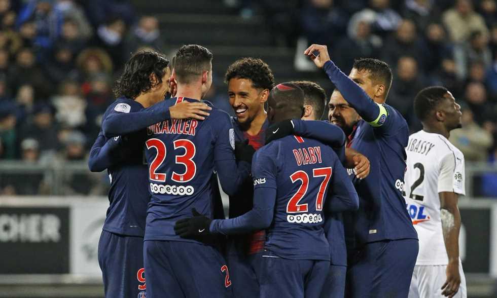 FilGoal   أخبار   بالفيديو - باريس سان جيرمان يتجاوز أميان بسهولة ويصل لـ50 نقطة في الدوري الفرنسي